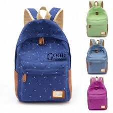 Fashion Women's Canvas Travel Satchel Shoulder Bag Backpack School Rucksack TXGT