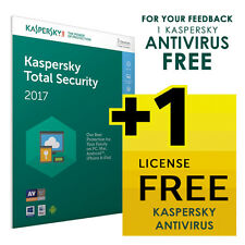 Kaspersky  Total Security 2017 -1 3 5 Pc -FREE Shipping or 1 FREE License*