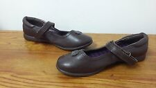 New Girls Youth Wonderkids Kylie Mary Jane Dress Shoes Brown 111X