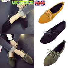 Women Ladies Velvet Lace Up Pumps Shoes Casual Slip On Loafers Summer Comfy Flat