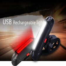 US COB Tail Bicycle LED Lamp USB Rechargeable Bike Front Rear Head Light