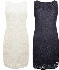 New Ex Wallis Lace Shift Occasion Dress Wedding Black or Ivory RRP £55.00