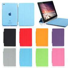 Slim Magnetic PU Leather Stand Smart Cover& Sleep Wake Back Case for Apple iPad