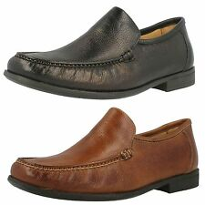 Anatomic & Co Mens Leather Slip On Shoes in Cognac/Black Style - Torres