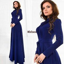 Women Ladies Long Sleeve Chiffon Maxi Long Evening Party Elegant Dress ES8801