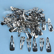 Bulk Lot 50pcs Silver Metal 30/50mm Snap Prong Hair Clips for Hair Bow DIY Craft