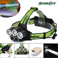 40000LM 5x XM-L T6 LED Rechargeable 18650 USB Headlamp HeadLight Zoomable TorchT