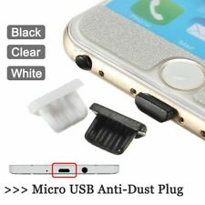 Universal Silica Gel Micro USB Data Port Anti-Dust Plug Protector Case Cover Lot