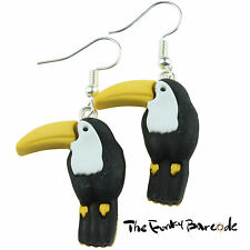 TFB - TOUCAN BIRD DANGLE EARRINGS QUIRKY NOVELTY GIRLS GIFT FUNKY WILD PARADISE