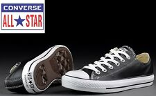 CONVERSE ALL STAR CHUCK TAYLOR MENS BLACK LEATHER OX CASUAL TRAINERS