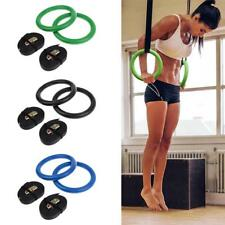 Textured Gym Rings & Belt Home Gymnastic Rings Fitness Strength Training Bar
