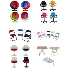 1/6 Scale Swivel Space Chair Foldable Chairs Desk Table for 12'' Action Figure
