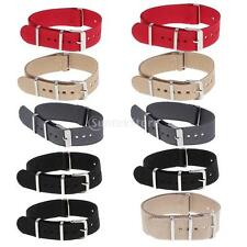 Durable Woven Nylon Watch Strap Wristwatch Band Replacement Width 18/20/22mm