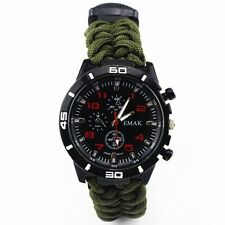 Paracord Survival Watch Compass Bracelet Waterproof Night Luminous 5 in 1