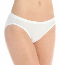 24 PACK ~ HANES Womens White Tagless 100% Cotton Bikini Underwear Panty Briefs