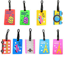 Personalized Secure Luggage  Tags PVC Travel Business Suitcase Card Holder