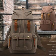 Travel Canvas Outdoor Sports Camping Rucksack Laptop Hiking School Bag Backpack