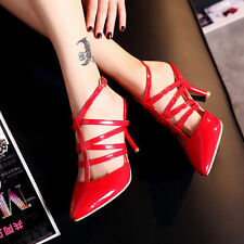 SALE New Women's Pumps High Heels Synthetic Leather Sandals Slingbacks Shoes