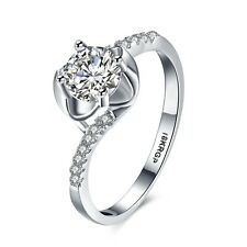 NEW Fashion Jewelry Unique Gift 18k White Gold Plated Charms Rings