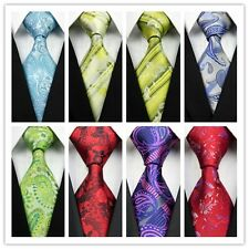 Yellow Blue Green Gray Red Black Pink Floral New Classic Silk Mens Tie Necktie z