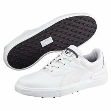 Puma Mens Monolite v2 Spikeless Golf Shoes Trainers White