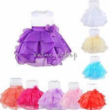 Flower Girl Baby Toddler Dress Bridesmaid Wedding Birthday Party Evening Recital