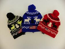 Mens Polo Ralph Lauren Reindeer Flag Wool Beanie Skull Cap Hat OS CHOOSE COLOR