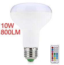 GOOD E27 RGB 10W LED Lamp Color Dimmable Screw Light Bulb with IR Remote Control