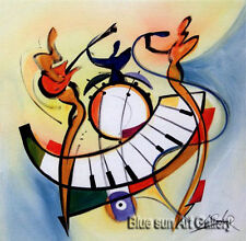 Hand-painted Modern Abstract Oil Painting Wall Art Canvas Music dance Decor IF32