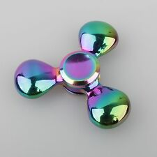 Rainbow 3D Tri-Fidget Hand Finger Spinner ADHD Focus Toy For Kids Adults Autism