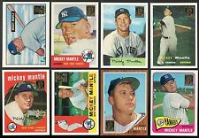 MICKEY MANTLE 1996 Topps Commemorative Reprint Set Single Cards #1-19 Bowman 96