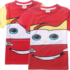 Cars Mcqueen NEW Boys Children Kids Summer Short T-shirt Tee Top Shirt