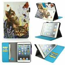 Cute Cartoon Smart PU Leather Magnetic Card Stand Case Cover Skin For Apple iPad