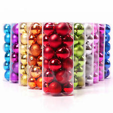 1 PACK OF 24 Christmas TreeBalls Baubles Xmas Party Colourful Decorations 4CM uk