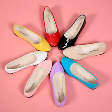 NEW FASHION WOMENS CUTE CASUAL COMFORT ROUND TOE SLIP ON BALLET FLAT SHOES