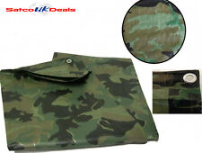 Camouflage Army Tarpaulin Waterproof Ground Sheet Cover Camo Hunting Fishing NEW