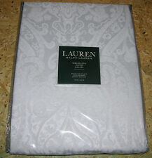 Ralph Lauren PAISLEY Solid White Damask Tablecloths or Napkins--NWT