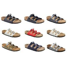 Birkenstock Florida Sandals Birko-Flor - white blue black brown - narrow regular