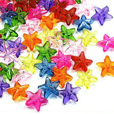 Acrylic Small Star Beads, Mix Icy Colors, 11mm x 4mm