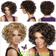 UK Black Women​s Blond Brown Short Curly Hairstyle Lace Hair Wigs Heat Resistant