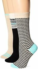 Timberland Womens Socks Geo Pattern Crew Sock 3 Pk- Pick SZ/Color.