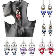 Women Fashion Vintage Long Tassel Beads Dangle Earrings Boho Fringe Drop Earring