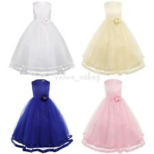 Flower Girl Dress Princess Wedding Bridesmaid Formal Pageant Graduation Party