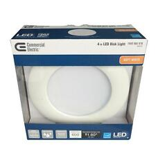 Qty 1 to 24 - Commercial Electric 4 in. White Recessed LED Can Disk Light