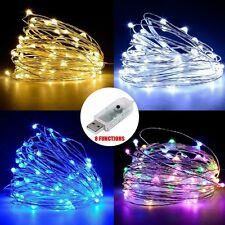 10M 100 LEDs USB Copper String Fairy Lights Lamp Indoor Outdoor Xmas Party Decor