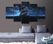 Sail Ship Sea Voyage Canvas Picture Painting Abstract Modern Wall Art Home Decor
