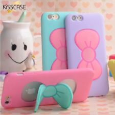 KISSCASE Case For iPhone 7 6S Plus Lovely 3D Bow-knot Soft Silicon Case For iPho