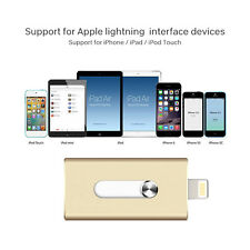 Lot 8-128GB OTG Dual USB Memory Flash Drive U Disk For Apple IOS iPhone iPad/PC