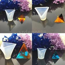 Pyramid DIY Silicone Mold Epoxy Resin Craft Chocolate Jewelry Making Mould Tool