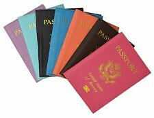 JO:Travel Leather Passport Organizer Holder Card Case Protector Cover Wallet New